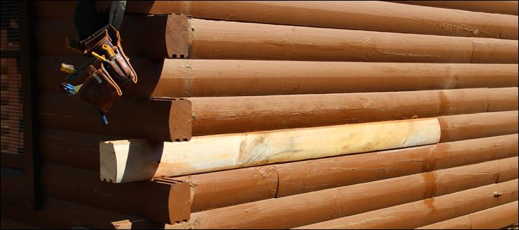 Log Home Damage Repair